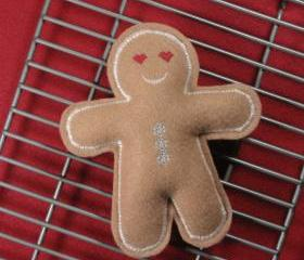 Gingerbread Man Catnip Cat Toy