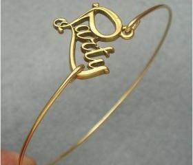 Brass Party Bangle Bracelet