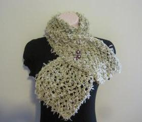 Knit Long Scarf - Fashion Yarn -light green (SC3)