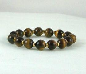 Focus Tiger Eye Energy Bracelet, Yoga Bracelet, Meditation Bracelet, Free Shipping, Unisex