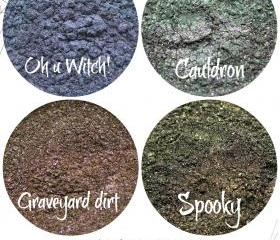 Halloween eyeshadow set, mineral eyeshadow, mineral makeup,