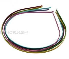  12pcs 3mm Mixed Matt Color Metal headbands Wholesale lot H12