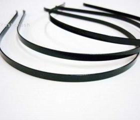  12pcs 3mm Black Metal headbands with BENT END Wholesale lot H2