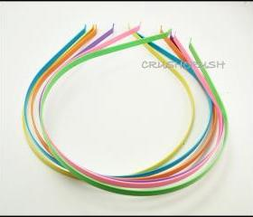  12pcs 3mm Colors Metal headbands Wholesale lot H8