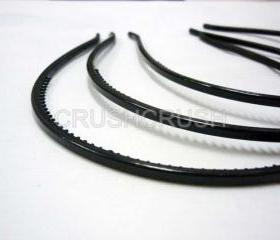  12pcs 4mm BLACK Plastic headbands Finding with teeth H19
