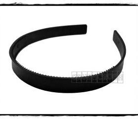  12pcs 8mm Black Plastic headbands with teeth H18