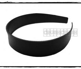  12pcs 1 inch Black Plastic headbands H20