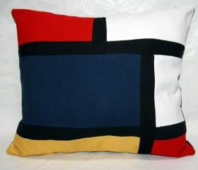Color Block Pillow Mod Retro Decor 