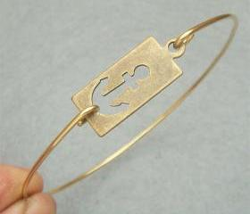 Anchor Bangle Bracelet Style 3