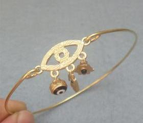 Evil Eye Bangle Bracelet Style 3
