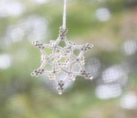 Silver Grey Snowflake Ornament No. 2