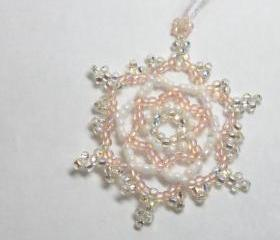 Snowflake Ornament No. 3 Pink
