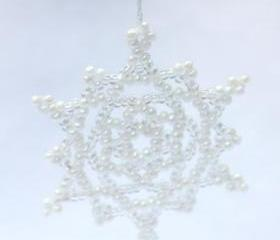 White Snowflake Ornament No. 1
