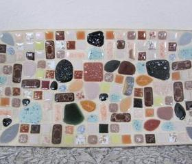 Vintage 1960's Mosaic Tile Plate