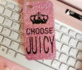 New Bling Sparkle Crystals Choose Juicy Pink iPhone 4/4S Case