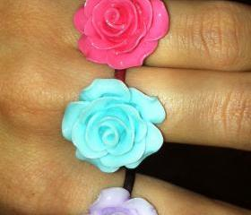 Vintage rose ring