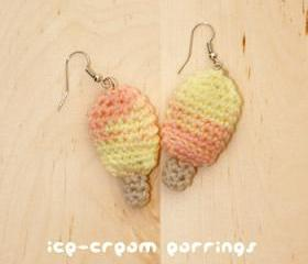 Crochet Ice Cream Stick / Popsicle / Bar Earrings PATTERN, SYMBOL DIAGRAM (pdf)