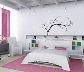 Bare Tree Style 4 Small 44&quot;Wx22&quot;H Vinyl Wall Decal 22224