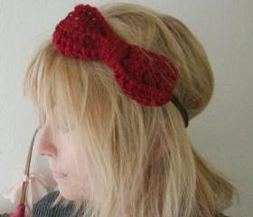 Crochet Big Bow Head Band