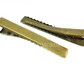  25pcs 55mm Antique BRASS plated Alligator hair clip with Teeth C40