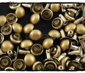 50pcs 6mm Matt Gold Domed Rivets Rapid Stud RV1216
