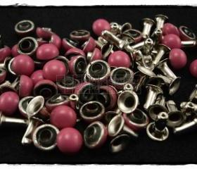 50pcs 6mm Pink Domed Rivets Rapid Stud RV1306