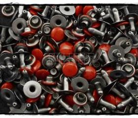  100pcs 7mm Red Round Rivets Rapid Stud RV2127