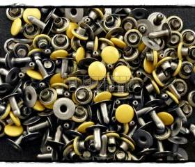 100pcs 7mm Yellow Round Rivets Rapid Stud RV2227