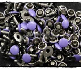  100Set 6mm Purple Round Rivets Leather RV296