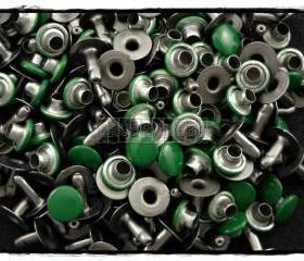  100pcs 6mm Dark Green Round Rivets Rapid Stud RV2316