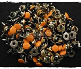  100pcs 6mm Orange Round Rivets Rapid Stud RV2116