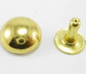 50x10mm gOLD DOMED RIVETS Leather Decorative RV1310