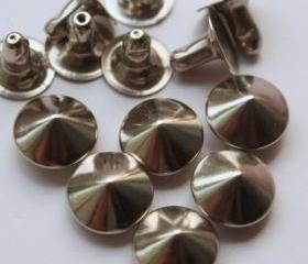 50x8mm Nickel CONE RIVETS Rapid Studs RV318