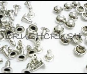  100pcs Nickel Domed Rivet Rapid RIVET STUD 6mm RV116