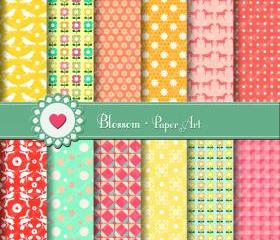 Digital Paper - Scrapbooking - Printables - DIY Projects - Personal and Commercial Use - 1382