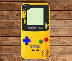 iphone 4 case,iphone 4s case,apple iphone case--Pokemon GameBoy Color Yellow,in plastic or silicone case