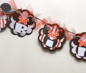 Minnie Mouse Inspired Birthday Banner
