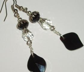 Long dangle crystal earrings