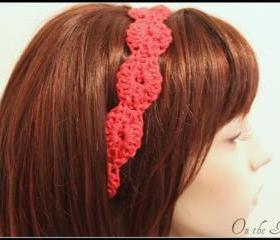Crochet Headband Orange Hair Tie