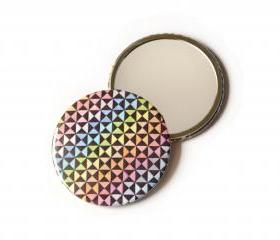 Rainbow pocket mirror, optical abstract contemporary art