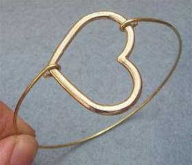 Heart Bangle Bracelet Style 7