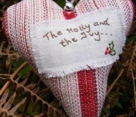 The Holly and the Ivy Christmas Heart