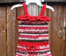 Infant Girls Crochet Tank Dress size 0-3 months, ready to ship.