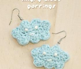 Crochet Angry Cloud Earrings PATTERN, SYMBOL DIAGRAM (pdf)