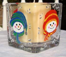 Snowman Candle Holder/ Potpourri Holder