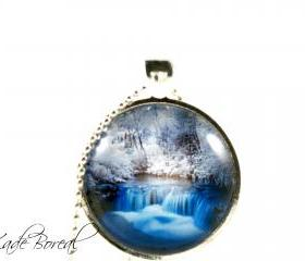 New Zeland glass pendant necklace-Dream places series