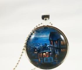 San Francisco, glass pendant necklace-dream places series