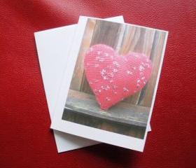 Rustic Heart blank greeting card, original photo print.
