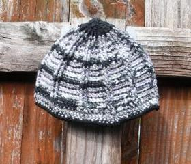 Ribbed Crochet Toddler Beanie Hat for Girls, ready to ship.