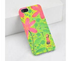 iPhone 5 Case With A Girl Watch Flower Printing